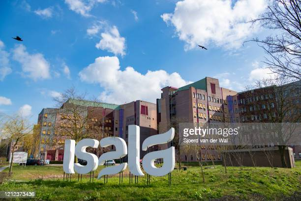 Front view of the Isala hospital on March 14, 2020 in Zwolle, Netherlands.The government has advised citizens to stay at home if you have a cold, a...