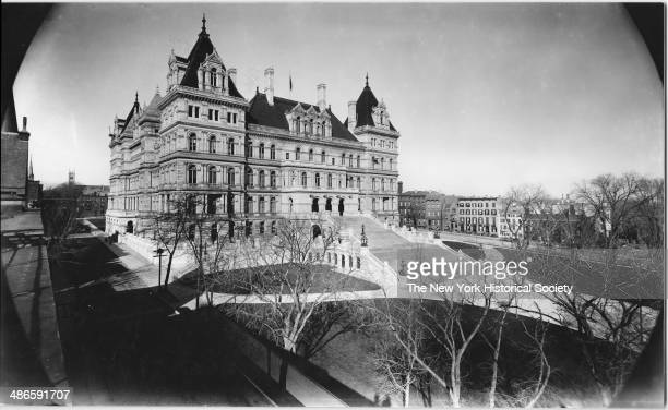 Front view of the New York State Capitol building Albany New York 1895