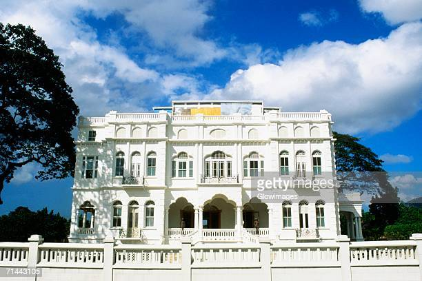Front view of the stately White Hall, Port of Spain, Trinidad, Caribbean