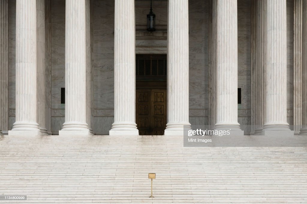 Front View of the Supreme Court Building : Stock Photo