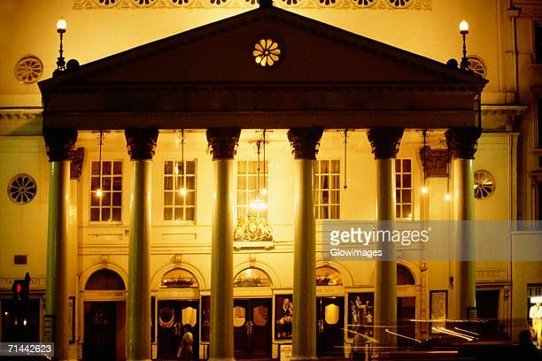 Front view of Theatre Royal Haymarket in London, England