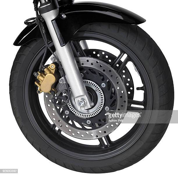 front wheel of a motorbike