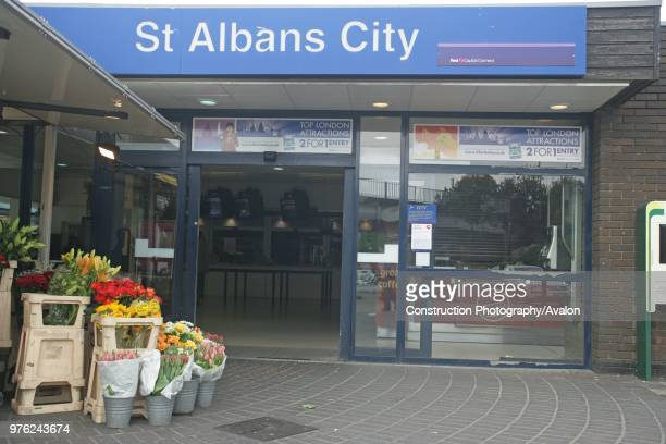 Frontage of St Albans City station Hertfordshire 3rd May 2007