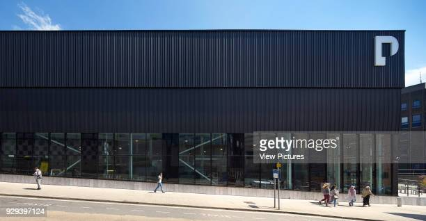 Frontal facade elevation on slope Plymouth College of Art Plymouth United Kingdom Architect Feilden Clegg Bradley Studios LLP 2016