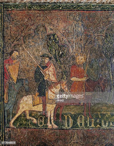 Frontal of Tordesillas Gothic painting in tempera on wood 15th century From the Convent of Saint Clare Tordesillas Valladolid province Detail...