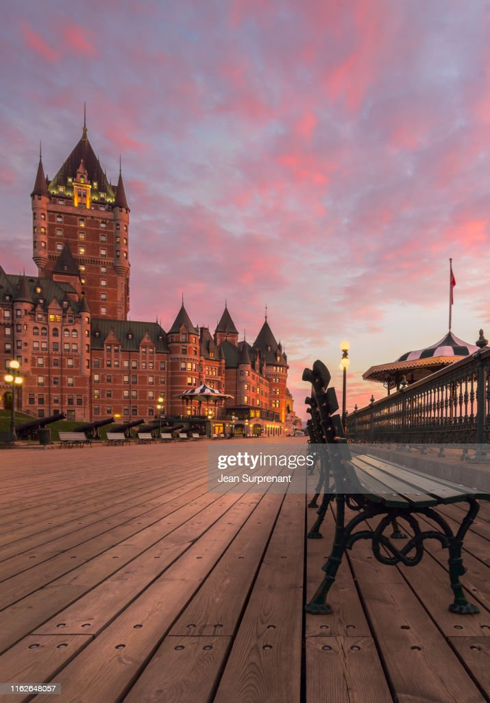 Frontenac castle sunrise : Stock Photo