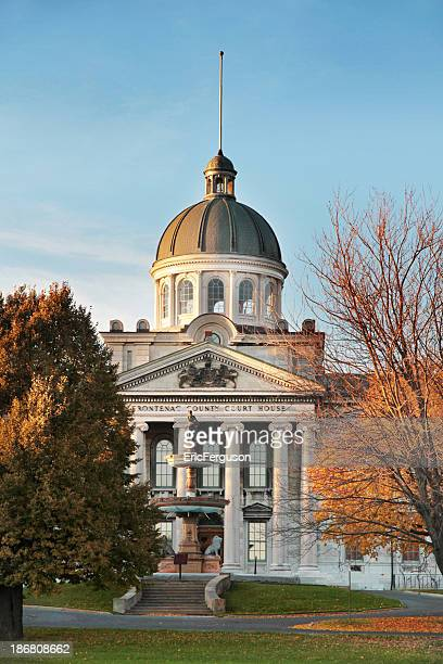 frontenac county court house in the fall - kingston ontario stock photos and pictures