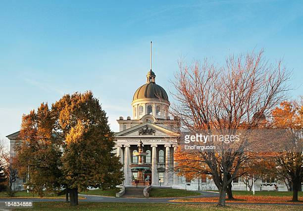 frontenac county court house wide angle in the fall - kingston ontario stock photos and pictures