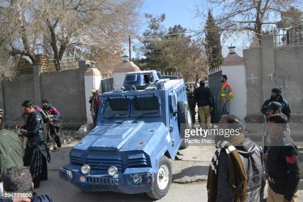 QUETTA BALOCHISTAN PAKISTAN Frontier Corps Soldiers outside an attacked church in Quetta At least 8 people were killed and more than 50 people were...