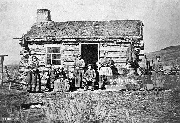 Frontier settlement in the far west Photograph 1870's