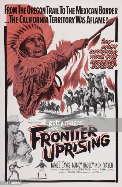 Frontier Uprising poster US poster bottom left James Davis Nancy Hadley 1961
