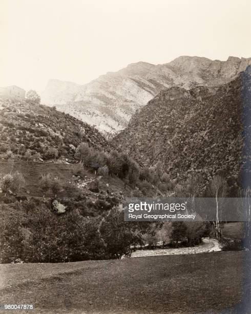Frontier view near the entrance to Andorra fronm Spain just below the Fragua de Moles Andorra 1886
