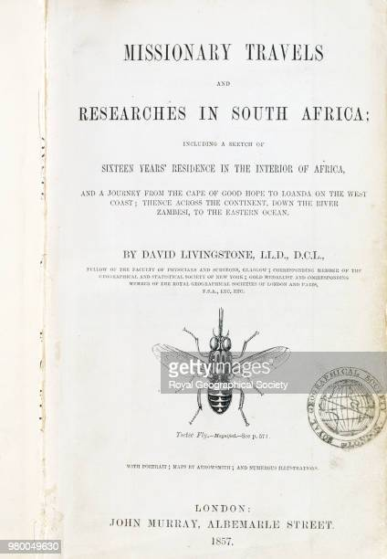 Frontispiece from 'Missionary travels and researches in South Africa' This book plate is from 'Missionary travels and researches in South Africa...