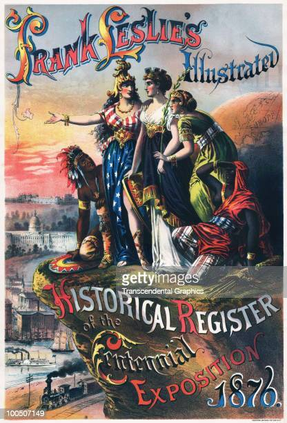 Frontispiece of 'Frank Leslie's Illustrated Historical Register of the Centennial Exposition' in Philadelphia Pennsylvania 1876