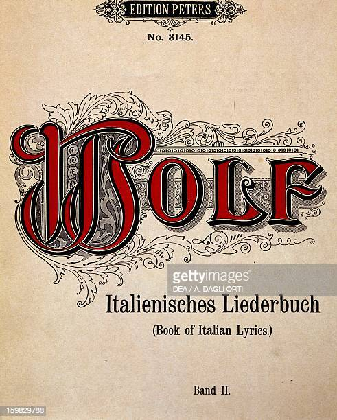 Frontispiece of Italienisches Liederbuch by Hugo Wolf Bologna Civico Museo Bibliografico Musicale