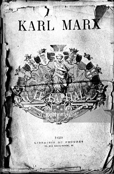 Frontispiece of the first French edition 'Capital' written by Marx and Engels, 19th century, France.