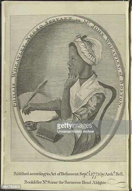 Frontispiece to Phillis Wheatley's Poems