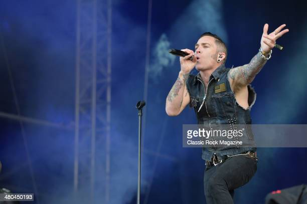 Frontman A Jay Popoff of American pop punk group Lit performing live on the Zippo Encore Stage at Download Festival on June 16 2013