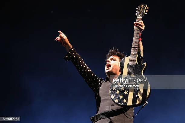 Frontman Billie Joe Armstrong of Green Day performs at Talking Stick Resort Arena on March 1 2017 in Phoenix Arizona