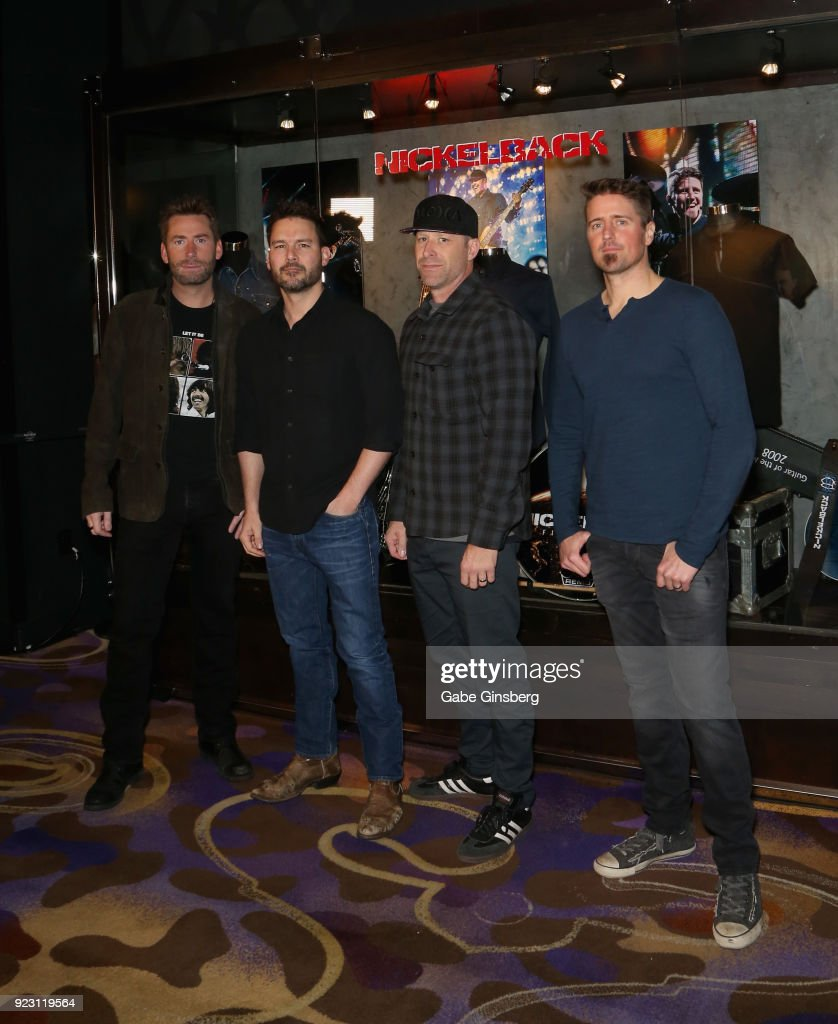 Nickelback Memorabilia Case Dedication At The Hard Rock