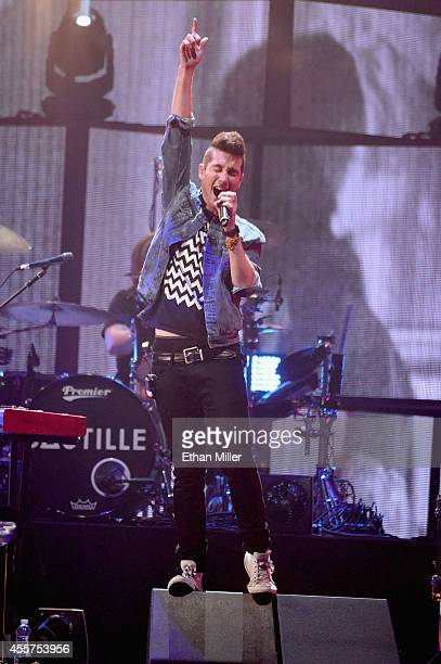 Frontman Dan Smith of Bastille performs onstage during the 2014 iHeartRadio Music Festival at the MGM Grand Garden Arena on September 19, 2014 in Las...