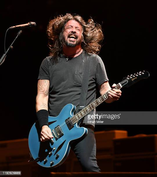 Frontman Dave Grohl of Foo Fighters performs at the Intersect music festival at the Las Vegas Festival Grounds on December 7, 2019 in Las Vegas,...