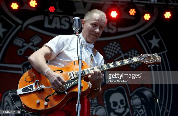 Frontman Jim Heath of The Reverend Horton Heat performs during the Viva Las Vegas Rockabilly Weekend's car show at the Orleans Arena on April 20 2019...