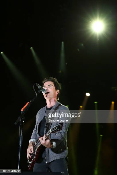 Frontman Kelly Jones of Stereophonics performs live on stage during day two of RiZE Festival at Hylands Park on August 18, 2018 in Chelmsford,...