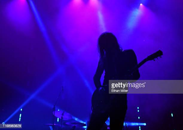 Frontman Kevin Uncle Acid Starrs of Uncle Acid the Deadbeats performs during Psycho Las Vegas at the Mandalay Bay Events Center on August 18 2019 in...