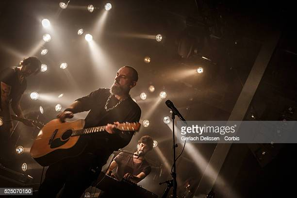 Frontman, leadsinger and guitarist Fin Greenall of the UK based band FINK playing a live gig at the Muziekgieterij venue in Maastricht, The...