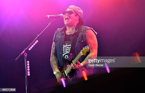 Frontman Rome Ramirez of Sublime with Rome performs at the 10th annual Wine Amplified festival at the Las Vegas Village on October 10 2015 in Las...