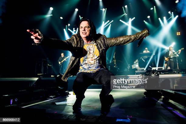 Frontman Steve Hogarth of British progressive rock group Marillion performing live on stage at Port Zelande Center Parcs in South Holland as part of...