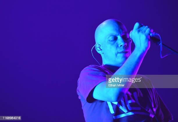 Frontman Stuart Braithwaite of Mogwai performs during Psycho Las Vegas at the Mandalay Bay Events Center on August 18 2019 in Las Vegas Nevada