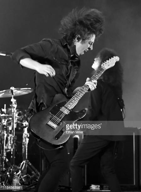 "Frontman Van McCann and bassist Benji Blakeway of Catfish and the Bottlemen perform during X107.5's ""Our Big Concert"" at The Chelsea at The..."