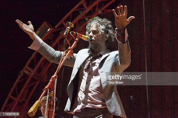 Frontman Wayne Coyne of The Flaming Lips performs at the 2009 Voodoo Experience at City Park on November 1 2009 in New Orleans Louisiana