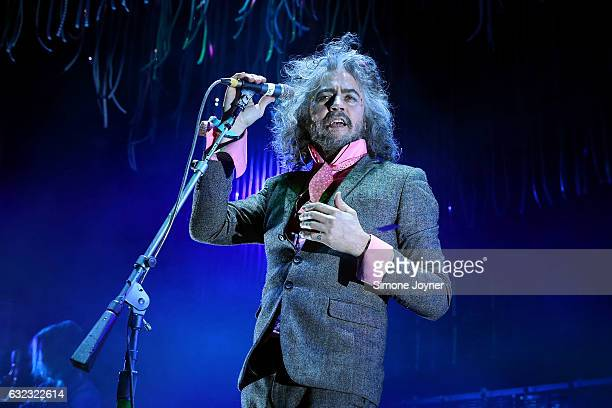 Frontman Wayne Coyne of The Flaming Lips performs live on stage at O2 Academy Brixton on January 21 2017 in London England