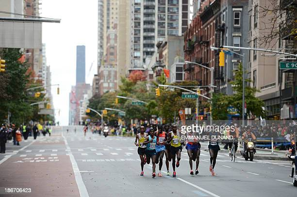 Frontrunners race in the New York City Marathon on November 3 2013 One of the most famous marathons in the world canceled at the last minute in 2012...