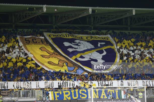 Frosinone Calcio fans during the Serie A match between Frosinone Calcio and Juventus at Stadio Benito Stirpe on September 23 2018 in Frosinone Italy