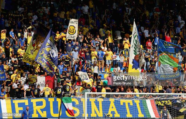 Frosinone Calcio fans during the Serie A match between Frosinone Calcio and Genoa CFC at Stadio Benito Stirpe on September 30 2018 in Frosinone Italy