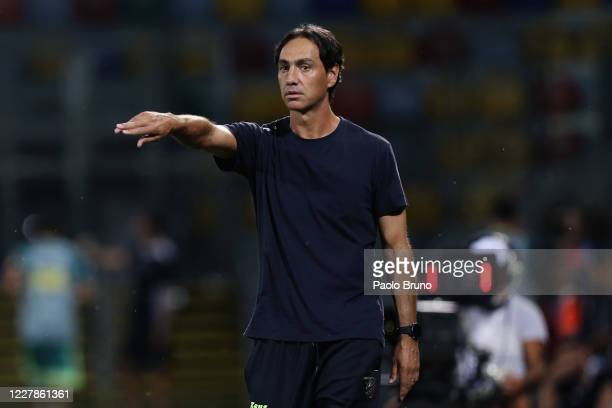 Frosinone Calcio head coach Alessandro Nesta gestures during the Serie B match between Frosinone Calcio and SC Pisa at Stadio Benito Stirpe on July...