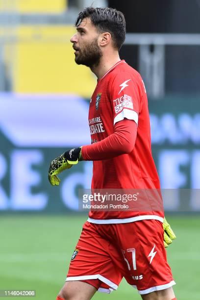 Frosinone football player Marco Sportiello during the match FrosinoneNapoli in the Benito Stirpe stadium Frosinone April 28th 2019
