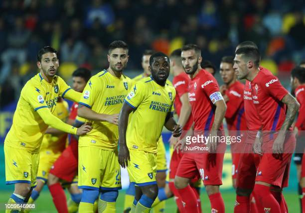 Frosinone v ACF Fiorentina Serie A The players of the two teams waiting for a corner kick at Benito Stirpe Stadium in Frosinone Italy on November 9...