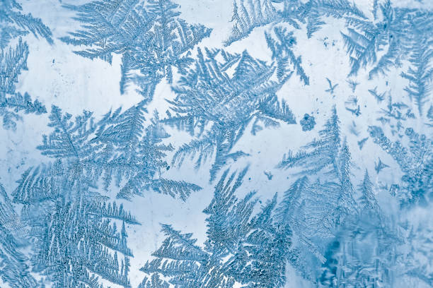 Frost Blue Pattern On Window Wall Art