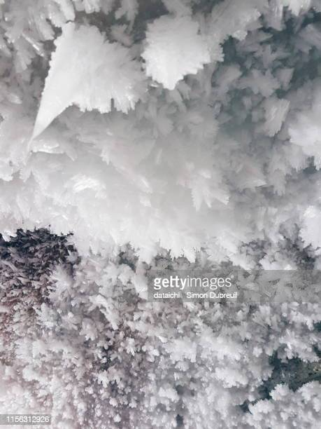 frost in a cave around lake baikal - permafrost stock pictures, royalty-free photos & images