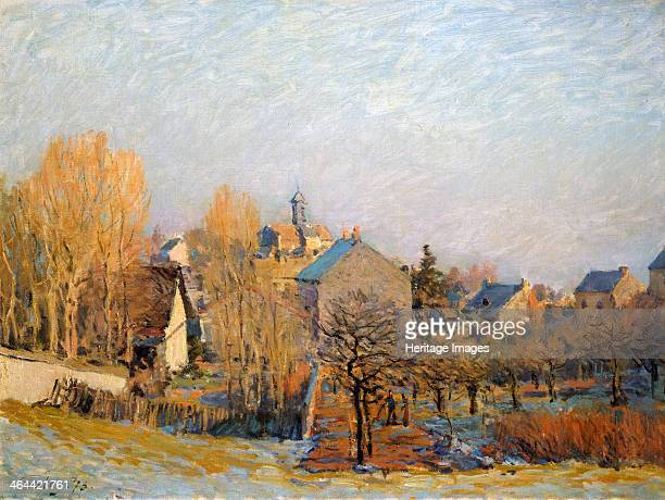 Frost in Louveciennes' 1873 Sisley Alfred Found in the collection of the State A Pushkin Museum of Fine Arts Moscow