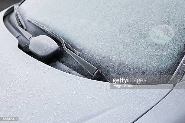 frost on a car - frost stock pictures, royalty-free photos & images