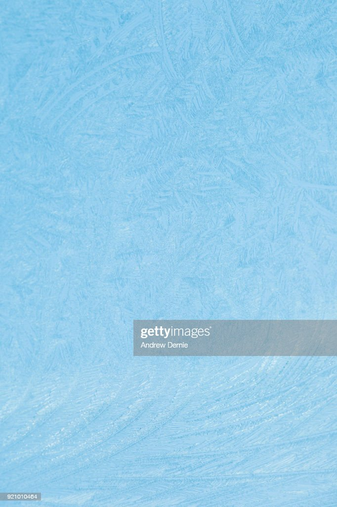 Frost on a car window screen : Stock Photo