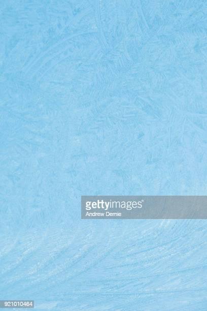 Frost on a car window screen