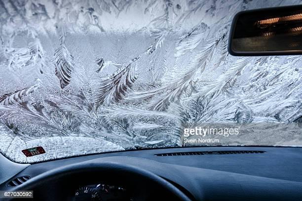 Frost on car windows