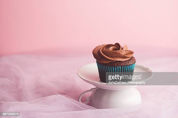 Frosted chocolate cupcake